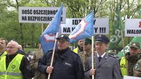 Protest służb mundurowych w Poznaniu