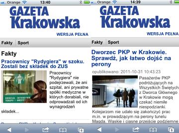 Gazeta Krakowska w wersji lite