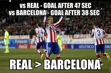Memy po Atletico - Barcelona: Turan rzuca butem, sędzia bije Albę chorągiewką, Torres-błyskawica