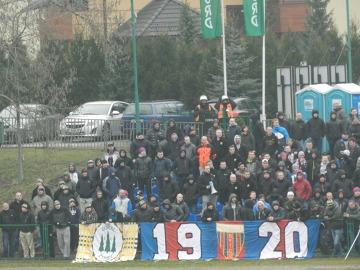 3. liga: Kibice na meczu Rekord Bielsko-Biała - Polonia Bytom 1:3 (GALERIA)