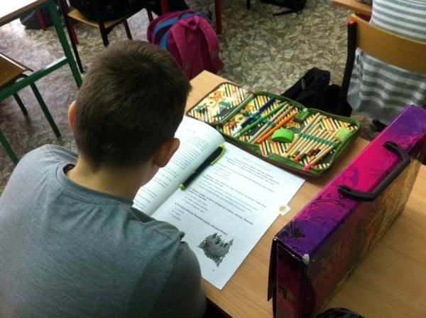 Test w szkole podstawowej nr 42 w Sosnowcu.