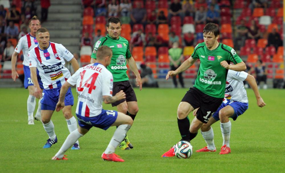 """Konieczny zapewnił Podbeskidziu wygraną z Górnikiem Łęczna. """"Górale"""" pewni utrzymania"""