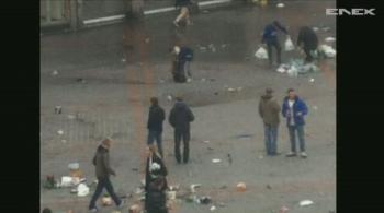 Kibice Evertonu starli się z policją przed meczem z Lille (WIDEO)