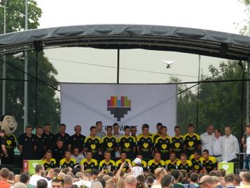 Kibice na prezentacji drużyny GKS-u Katowice (GALERIA)