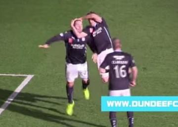 Zapaśnicza cieszynka szkockich piłkarzy