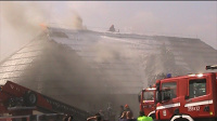 Pożar Bursztynowego Dworu pod Kaliszem