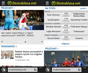Ekstraklasa.net LIVE w wersji lite
